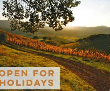 Open for holidays in Sonoma