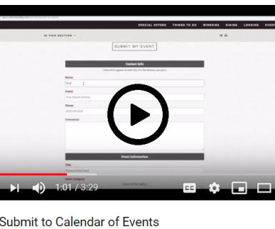 How to submit to SVVB calendar of events