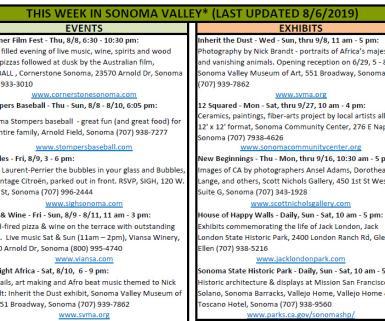 Weekly Events Screenshot