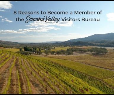 Become a member of Sonoma Valley Visitors Bureau