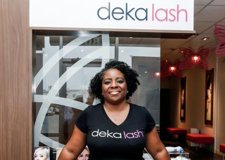 Deborah Brown, owner of Deka Lash in Plainfield Commons