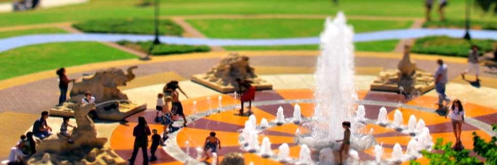 Park fountain model