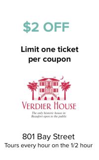 Verdier House Coupon
