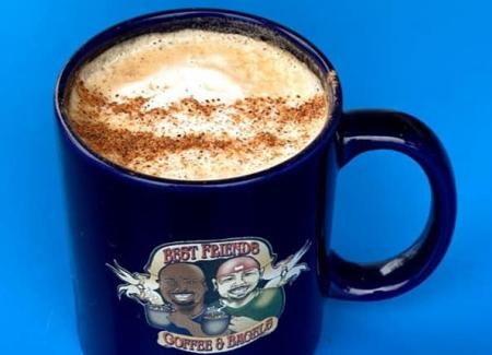 Best Friends Cuban cappuccino (Photo courtesy of Best Friends Coffee & Bagels Facebook page)