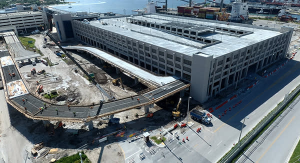 Construction nearly completed on new Heron Parking Garage
