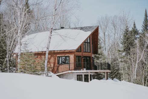 Winter cabin in Minocqua