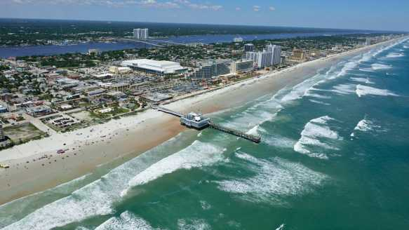 Aerial Daytona Beach view