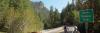 Mountain biker crosses the Umpqua River