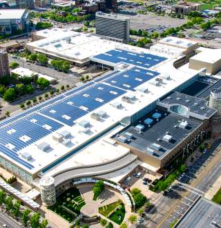 Salt Palace Convention Center Rooftop Solar Panels
