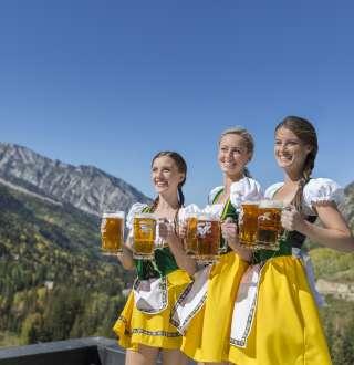 Beer Maidens at Oktoberfest