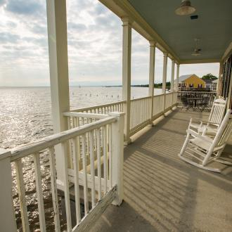 Porches of Fontainebleau State Park Cabins, Mandeville, Lake Pontchartrain