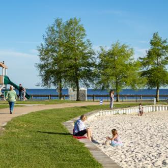 Mandeville Lakefront Beach