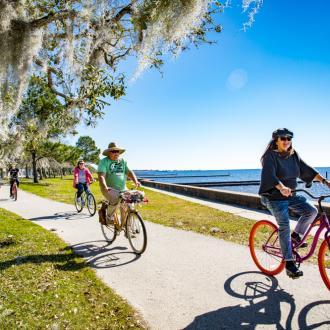 Biking the Mandeville Lakefront