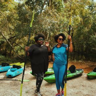 Brandy & Jada at Cane Bayou Kayak Launch