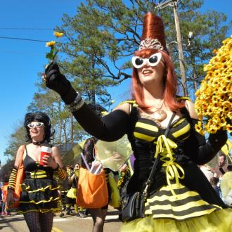 Abita Queen Bees at Abita Springs Push Mow Parade