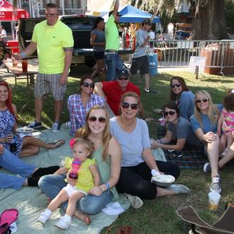 Families at The Wooden Boat Festival in Madisonville