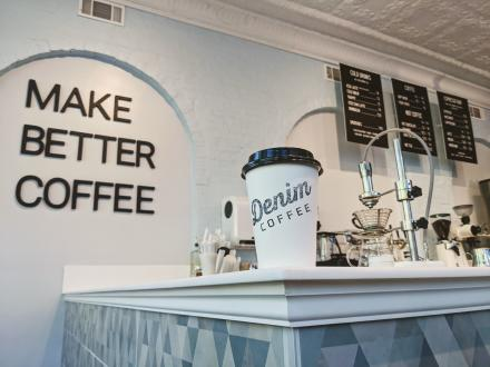 Denim Coffee Interior