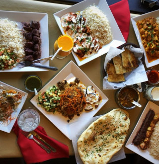 Assorted Food at Afghan Kitchen - horizontal