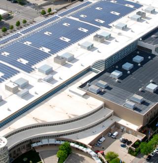 Salt Palace Convention Center Rooftop Solar Panels