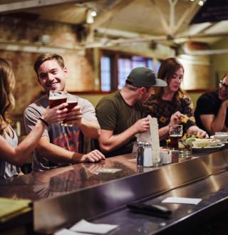 Friends at Desert Edge Brewery