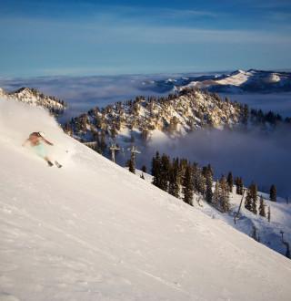 McKenna Peterson Skiing at Brighton Resort