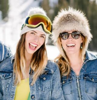 Skiers at Alta Ski Area