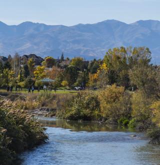 The Jordan River Parkway in Salt Lake