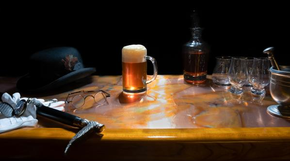 Bar with Antique elements and full beer