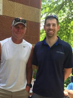 Brant with Brett Favre