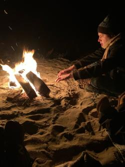 Beach Bonfires in Leelanau