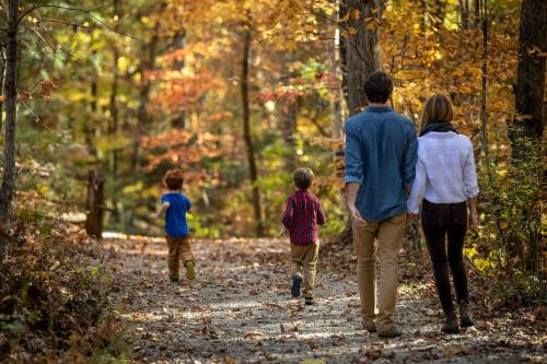 Family Hiking in the fall