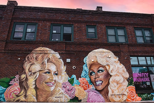 New mural in West Asheville