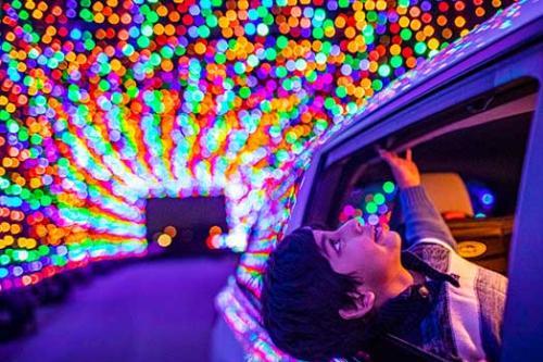 Drive through lights display