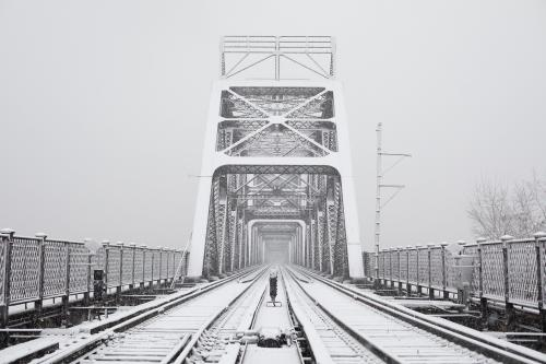 Snow-covered Railraod Bridge in New Albany Ben Elliott