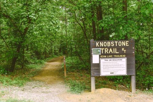 Entrance to the Deam Lake Knobstone Trailhead