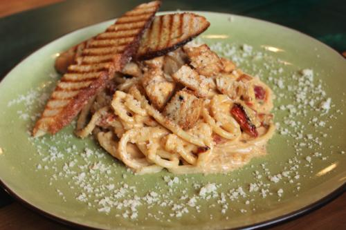 Pasta dish from Board and You in New Albany, IN