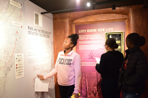 Women exploring the history of Lucy Higgs Nichols at Carnegie Underground Railroad