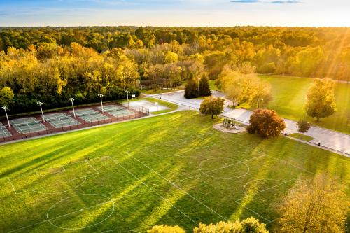 Antrim Park Sports Fields in Fall
