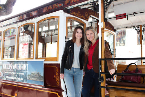 2 ladies on a Cable Car