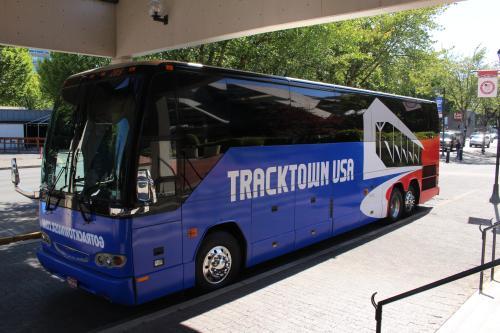 TrackTown Bus by Janelle Breedlove