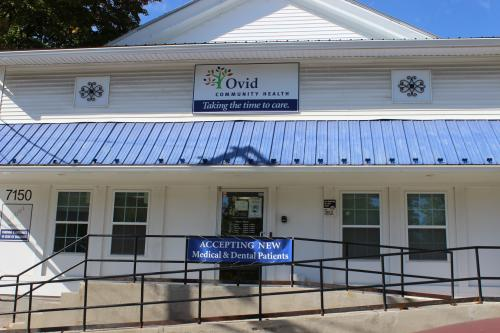 Exterior of Ovid Community Health Office