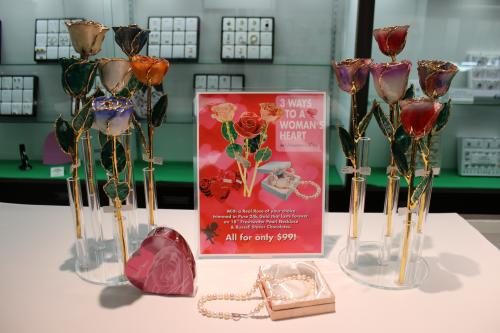 Valentine's Day Display at Robinette jewelers
