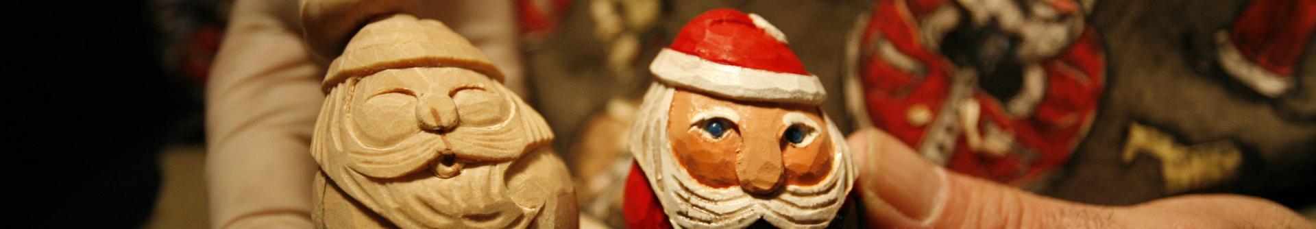 Hand-Carved Santa at the Christkindlmarkt in Bethlehem