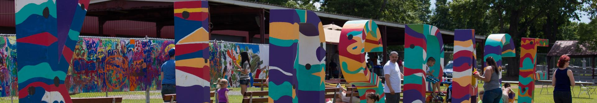 An installation at Mayfair Festival for the Arts