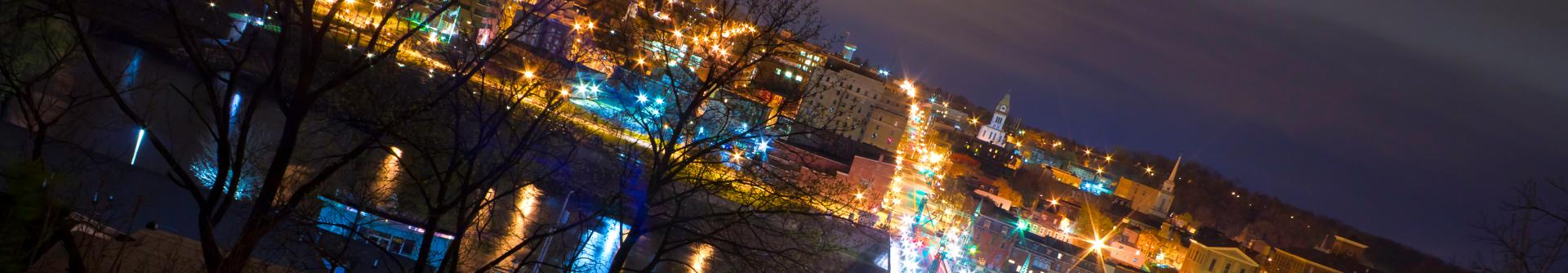 Easton at Night Discover Lehigh Valley