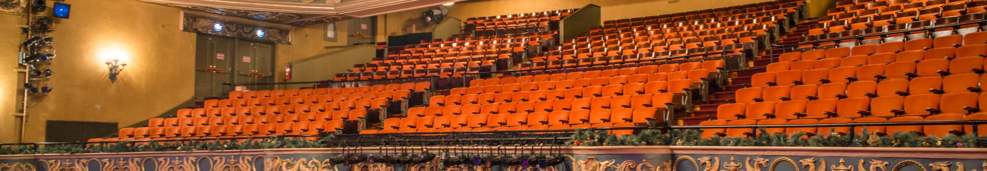 Empty theater seats at the State Theatre Center for the Arts