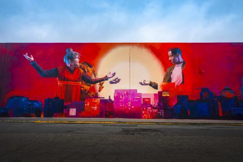 """Love Letter To Oakland"" Mural painted for Oakland Mural Festival 2018."