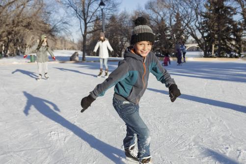 Skating at Meewasin Rink