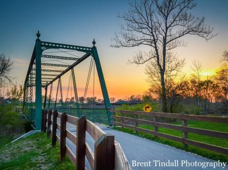 Friendship Gardens Bridge in Plainfield (Photo courtesy of Brent Tindall Photography)