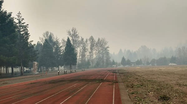 McKenzie Community Track After Fire